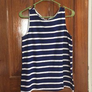 Striped Sleeveless LOFT top xs